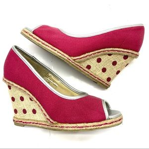 Colin Stuart peep-toe wedges- size 6
